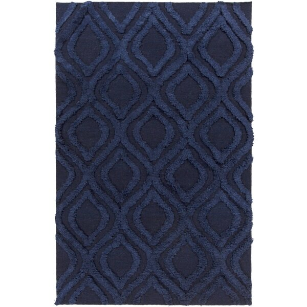 Kabru Navy Geometric Rug by Surya