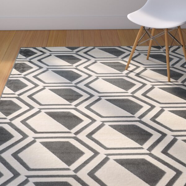 Suzanne Grey/Charcoal Area Rug by Langley Street