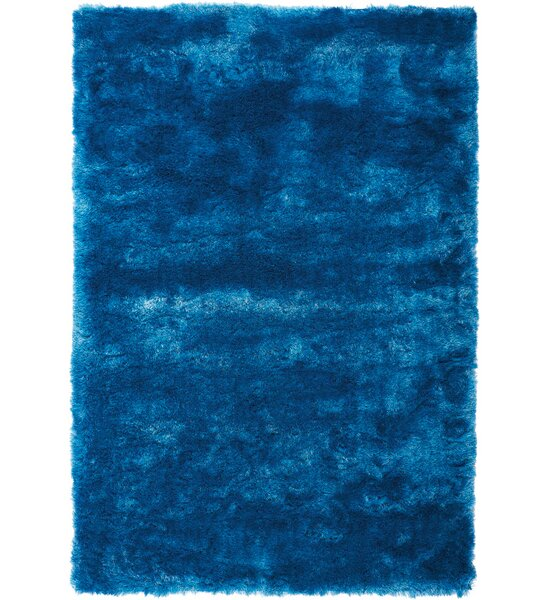 Pilipenko Hand-Tufted Aqua Area Rug by Ebern Designs