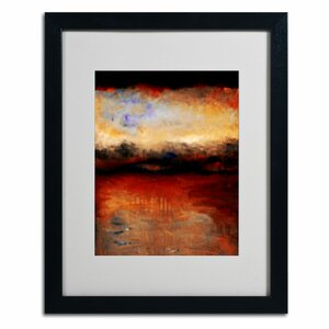 Red Skies at Night by Michelle Calkins Framed Painting Print by Trademark Fine Art