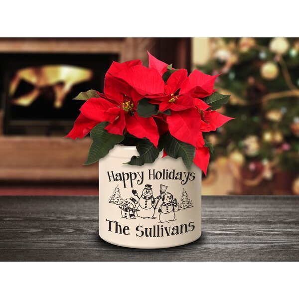 West Line Personalized Snowman Family Ceramic Pot Planter by The Holiday Aisle