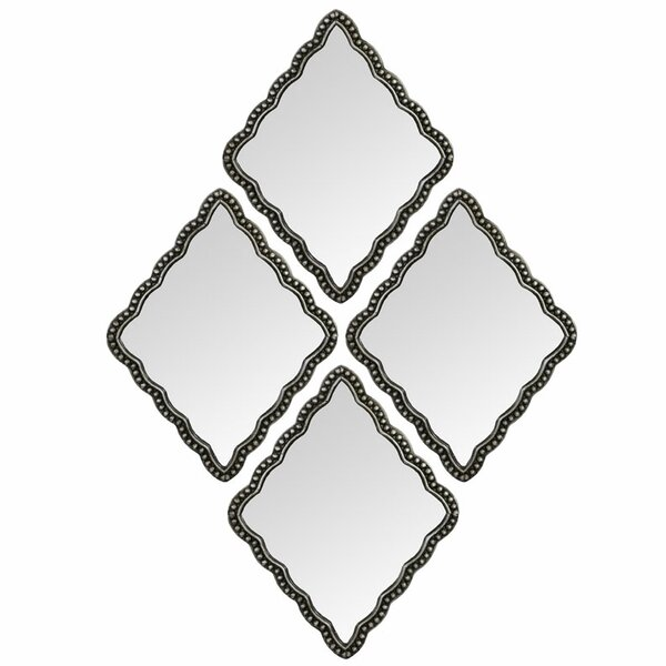 Diamond Wall Mirror (Set of 4) by Selectives
