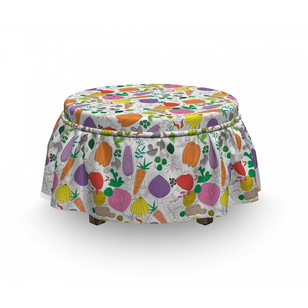Childish Drawing Food Ottoman Slipcover (Set Of 2) By East Urban Home