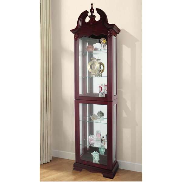 Hamilton Lighted Curio Cabinet by Astoria Grand Astoria Grand