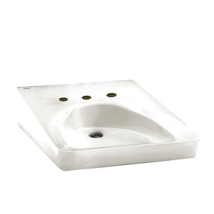 Bargain Ceramic 20 Wall Mount Bathroom Sink with Overflow By American Standard