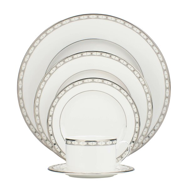 Signature Spade Bone China 5 Piece Place Setting, Service for 1 by kate spade new york