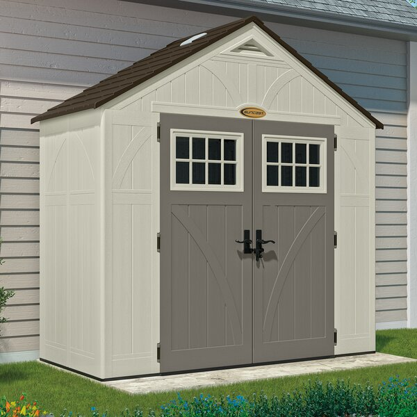 Tremont 8 ft. 5 in. W x 4 ft. 5 in. D Plastic Storage Shed by Suncast