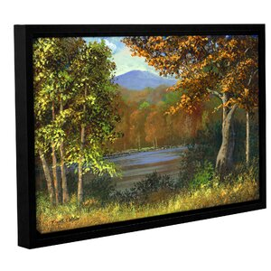 Mountain Pond Framed Painting Print by Three Posts