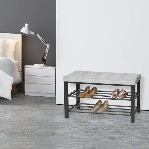2-Tier Shoe Storage Bench