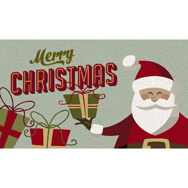 Chatman Santa Presents Gray/Red Area Rug by The Holiday Aisle