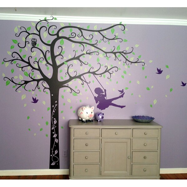 Girl Plays Swing Wall Decal by Pop Decors