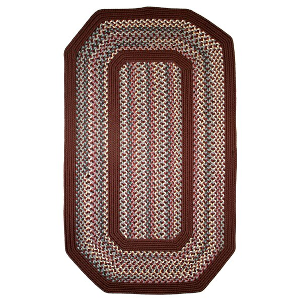 Pioneer Valley II Indian Summer with Burgundy Solids Elongated Octagon Rug by Thorndike Mills