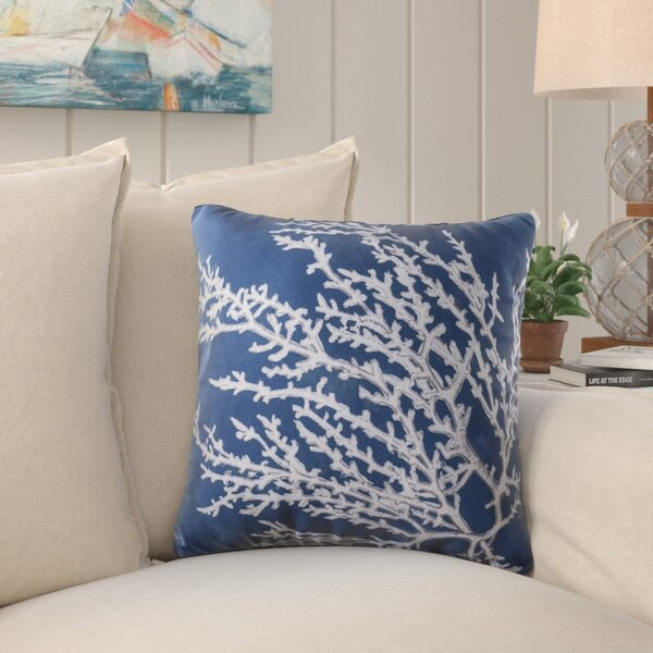 Beaconsdale Coral Throw Pillow by Beachcrest Home