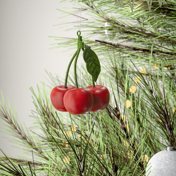 Cherries Hanging Figurine by August Grove