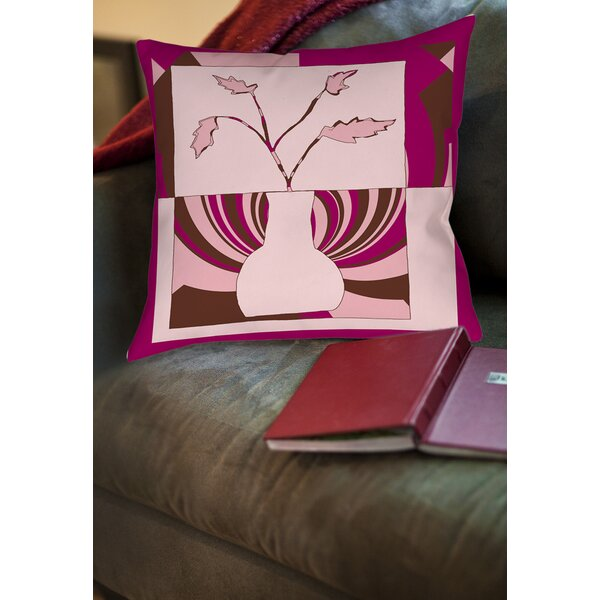 Minimalist Flowers 1 Printed Throw Pillow by Manual Woodworkers & Weavers