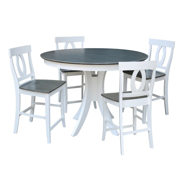 Mathew Counter Height 5 Piece Pub Table Set by Red Barrel Studio