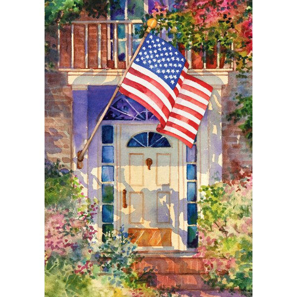 Patriotic Home 2-Sided Garden flag by Toland Home Garden