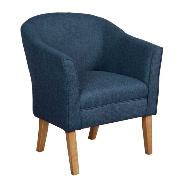 Derouen Fabric Upholstered Wooden Armchair by Gracie Oaks