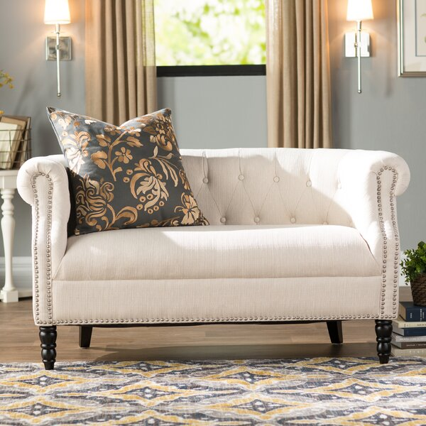 Huntingdon Chesterfield Loveseat by Three Posts