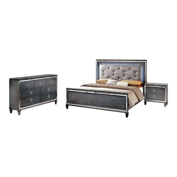 Tidore Cal King Standard Configurable Bedroom Set by Mercer41 Mercer41