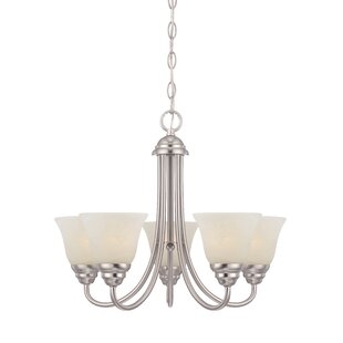 Deals Eichelberger 5-Light Shaded Chandelier By Charlton Home