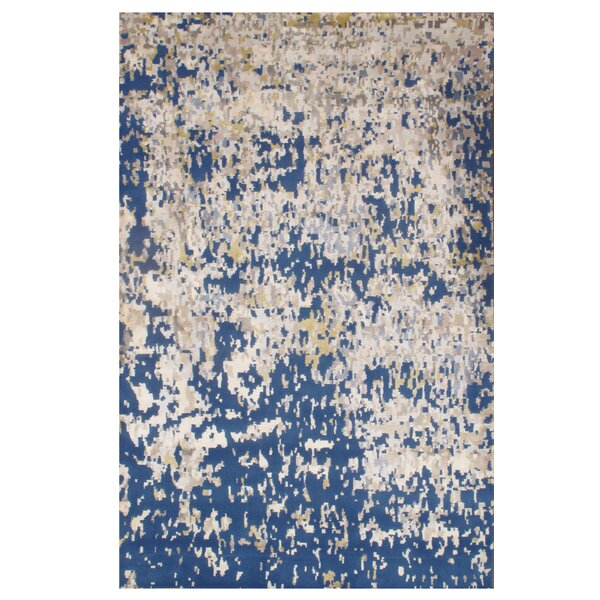 Hand-Knotted Blue Area Rug by Pasargad NY