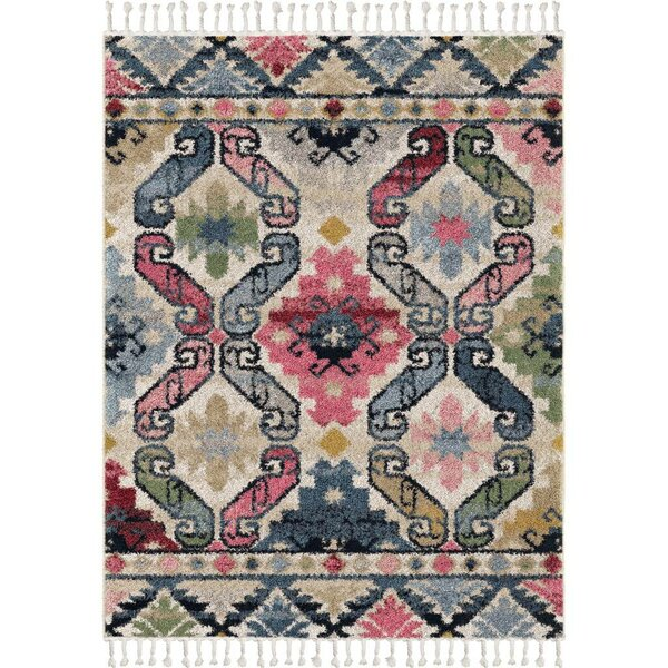 Kennard Saffron/Ivory/Blue Area Rug by Bungalow Rose
