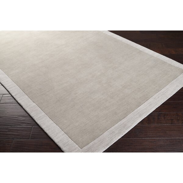Madison Square Hand Woven Wool Light Gray Area Rug by angelo:HOME