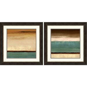 Stripes Giclee Framed 2 Piece Graphic Art Print Set (Set of 2) by PTM