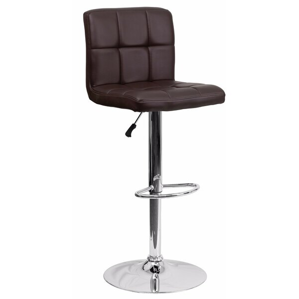 Cyrus Adjustable Height Swivel Bar Stool by Orren Ellis
