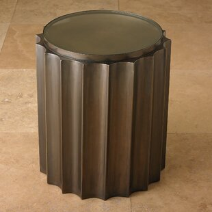 Fluted Column End Table