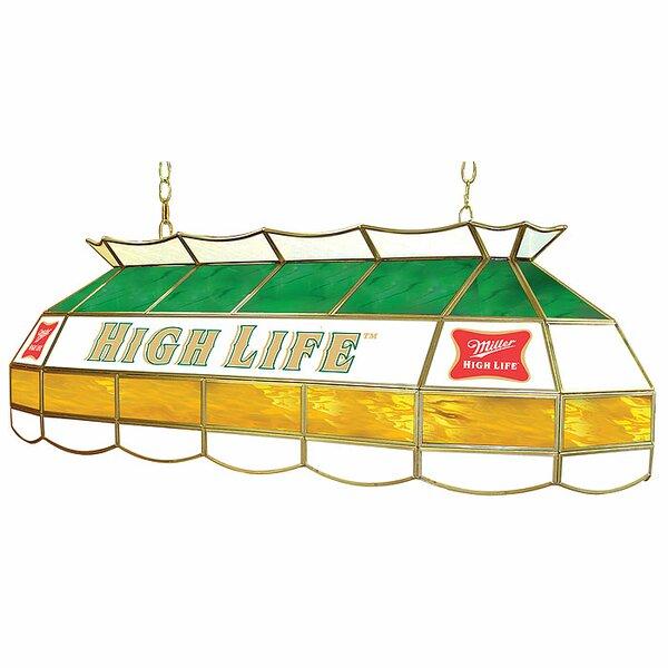 Miller High Life 3-Light Pool Table Light by Trademark Global