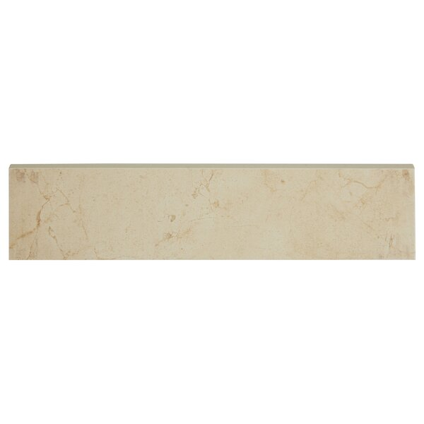 Florentine 12 x 3 Ceramic Bullnose Tile Trim in Ma