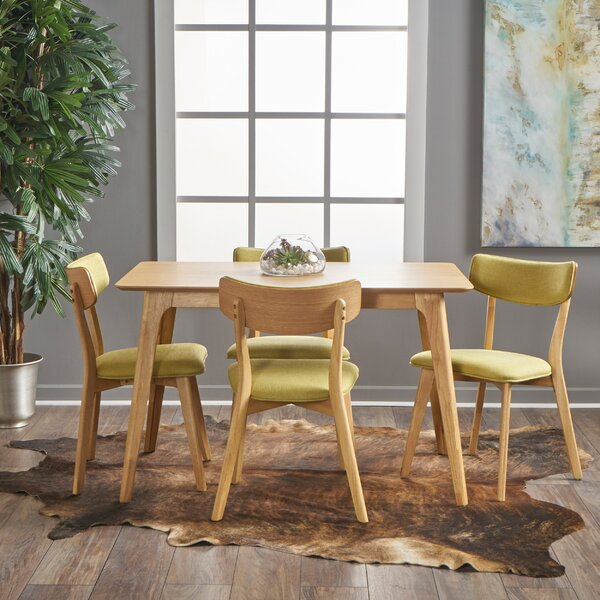 Andrew 5 Piece Dining Set by George Oliver