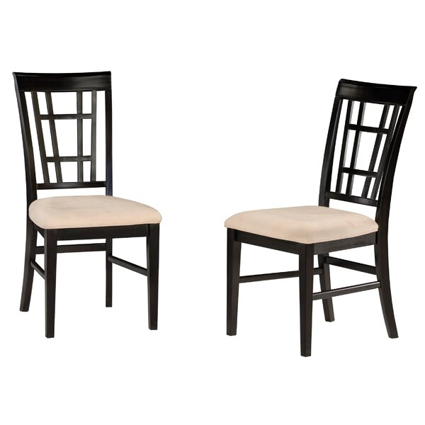 Tuers Upholstered Slat Back Side Chair (Set of 2) by Darby Home Co Darby Home Co