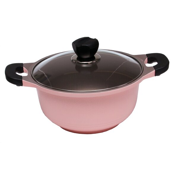 Die Casted Aluminium Round Casserole with Lid by LaCena