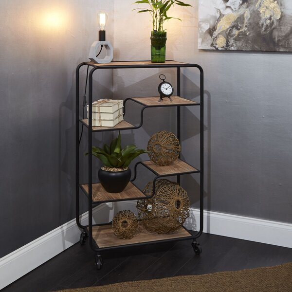 Kimbrough Multi-tiered Slim Geometric Bookcase By 17 Stories