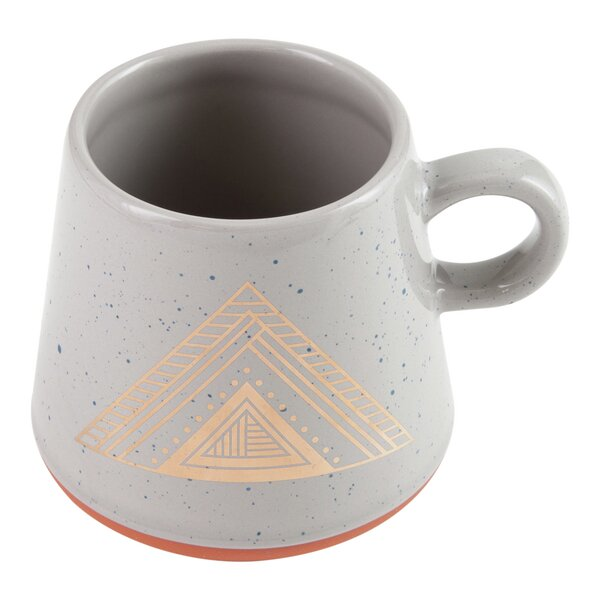 Oversize Speckled Mug with Pyramid Design by Plum and Punch