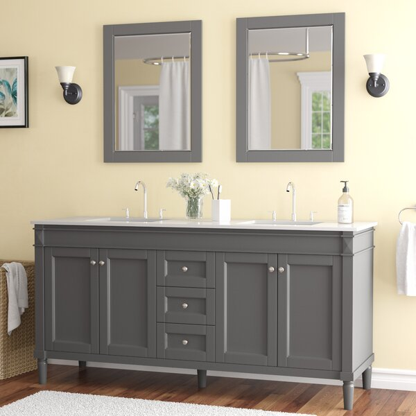 Millfield 71 Double Bathroom Vanity Set with Mirror by Andover Mills