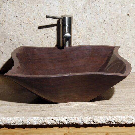 Curve Stone Rectangular Vessel Bathroom Sink