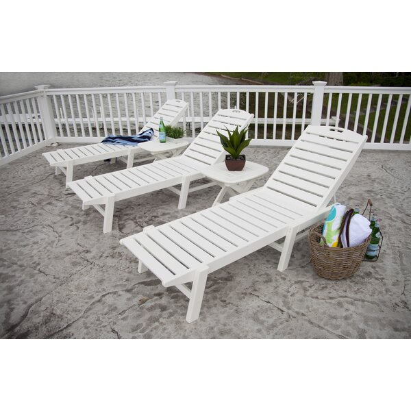 Nautical Reclining Chaise Lounge by POLYWOOD POLYWOOD®
