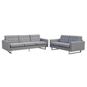 grey leather living room set. Beneva 2 Piece Living Room Set Modern Sets  AllModern