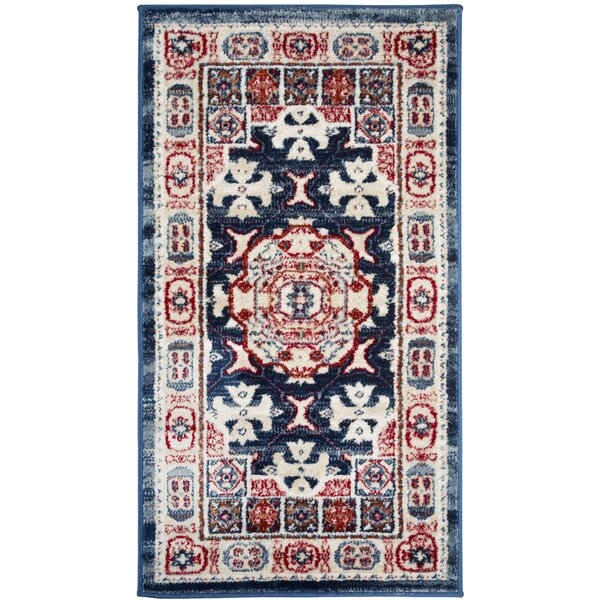 Angellyna Power Loom Red/Blue Rug
