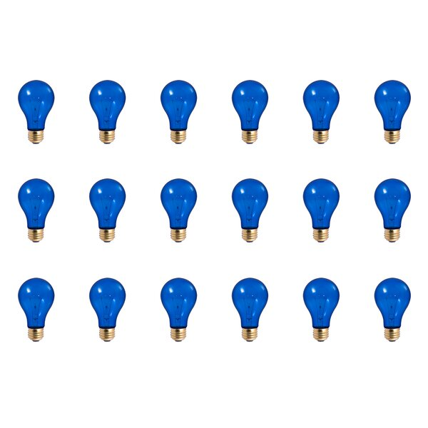 25W E26 Dimmable Incandescent Light Bulb Blue (Set of 18) by Bulbrite Industries