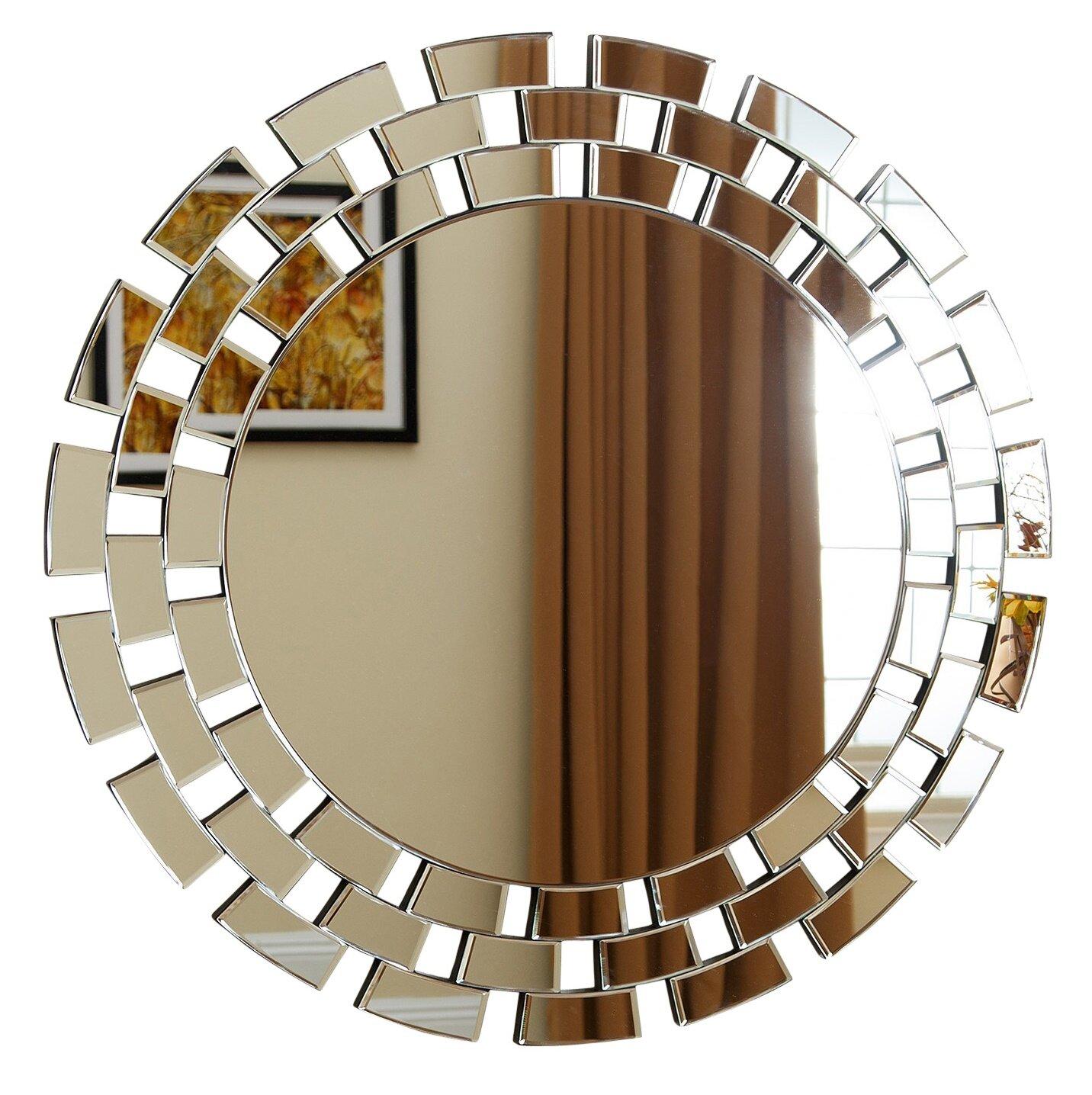 Round Glass Wall Mirror u0026 Reviews