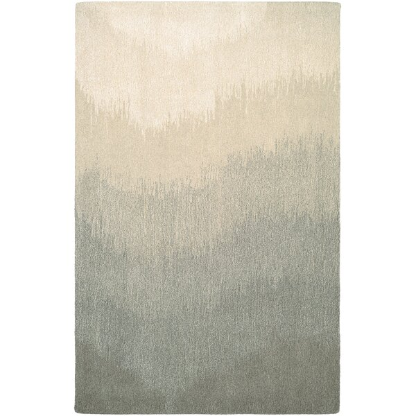 Leandre Hand-Woven Gray/Beige Area Rug by Trent Austin Design