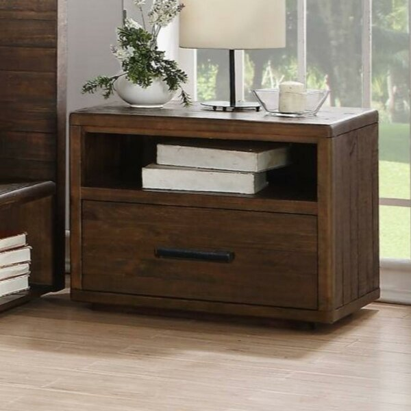 Macalester Wooden 1 Drawer Nightstand by Williston Forge