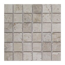 Light Tumbled 2 x 2 Travertine Mosaic Tile in Brown/Gray by Seven Seas