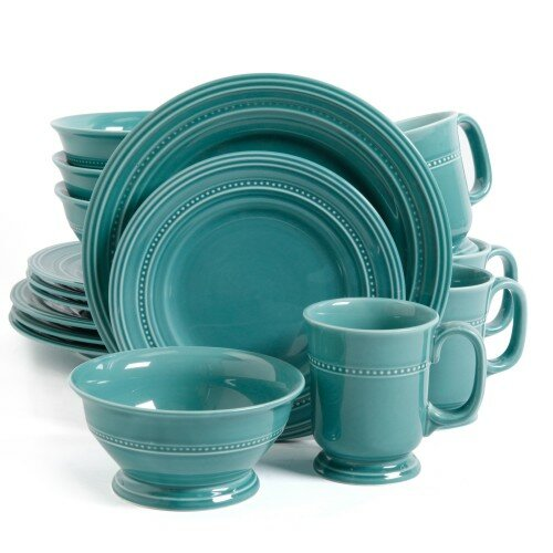 Gibson Elite 16 Piece Dinnerware Set, Service for 4 by ABC Home Collection