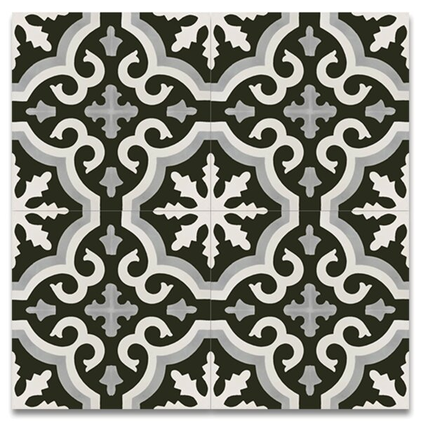 Tanger 8 x 8 Handmade Cement Tile in Multi-color by Moroccan Mosaic